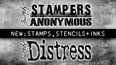 Tim Holtz Stamps, Stampers Anonymous, Video Tutorials, Paper Crafting, Ranger, Stencils, The Creator, Colours, Artists
