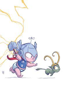 Thor Baby variant by skottieyoung.deviantart.com