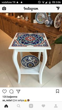 Cok be endim Decoupage Furniture, Hand Painted Furniture, Paint Furniture, Upcycled Furniture, Home Decor Furniture, Furniture Makeover, Diy Home Decor, Furniture Design, Decoupage Table