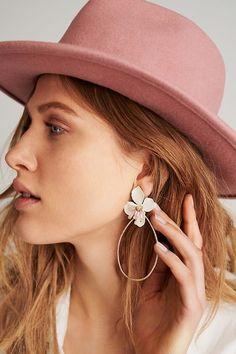 Slide View: 3: Mireille Floral Drop Earrings