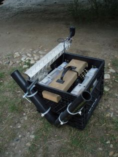DIY Canoe fishing rig. A place for poles and storage. - Alberta Outdoorsmen Forum