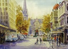 "J.K. Reed, ""Christchurch as it was"" I love J.K. Reed's paintings I have two of them at home in Marlborough. Sandra"