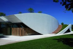 Fluid lines at Chateau Cheval Blanc Winery in Saint-Emilion, France by Christian de Portzamparc
