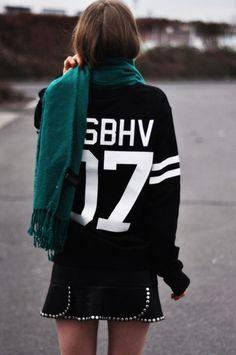 this Season's Super Chic Sweaters and Sweatshirts   varsity sporty street chic
