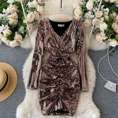 Party Dresses For Women, Club Dresses, Sexy Dresses, Nice Dresses, Short Dresses, Mini Dress Formal, Glitter Dress, Sequin Dress, Frocks For Girls