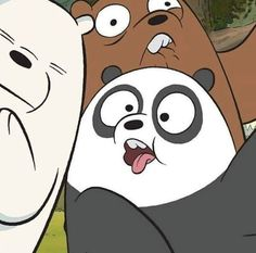 Polar,Panda e Pardo😽 Bear Wallpaper, Cute Wallpaper Backgrounds, Cartoon Wallpaper, Disney Wallpaper, Cute Wallpapers, Bear Cartoon, Cartoon Icons, Cute Cartoon, Ice Bear We Bare Bears
