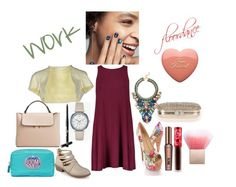 """""""Untitled #304"""" by yasm-ina ❤ liked on Polyvore featuring Journee Collection, Paule Ka, Michael Kors, MANGO, Collections by Hayley, Benefit, Beauty Is Life and Anya Hindmarch"""