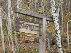 Starwood sign - Entrance to John Denver's Aspen home.