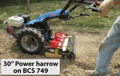 "30"" Power Harrow, $2,200. Earth Tools"