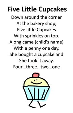 Itty Bitty Storytime Rhyme: Five Little Cupcakes Rhyme