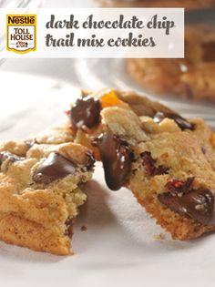 Dark Chocolate Chip Trail Mix Cookies