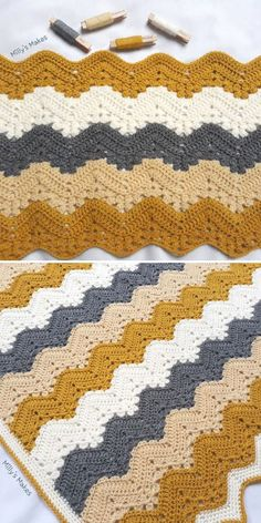 As you may know, I love exploring new ideas in crochet, so I'm not constricting myself to any rules! Punto Zig Zag Crochet, Chevron Crochet Blanket Pattern, Crochet Stitches Free, Easy Crochet Blanket, Crochet Ripple, Chunky Crochet, Afghan Crochet Patterns, Double Crochet, Free Crochet