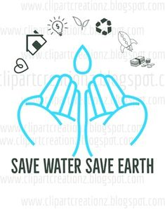 Water Poster, Poster On, Water Symbol, Save Water, Purpose, Clip Art, Earth, Education, Free