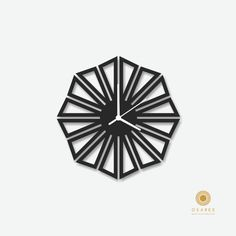 Triangle black modern wall clock, Modern, Laser Cut, Wall, Art, Decor, Clock