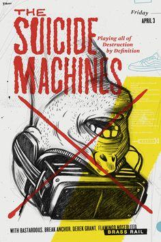 GigPosters.com - Suicide Machines, The - Bastardous - Break Anchor - Derek Grant - Flamingo Nosebleed