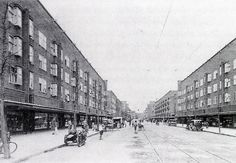 j f staal - housing and shops, jan evertsenstraat, amsterdam west, 1925