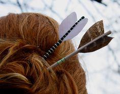 Hair sticks and fletchings for archery Hair Dos, Your Hair, Coiffure Hair, Do It Yourself Jewelry, Hair Sticks, Spring Colors, Larp, Merida, Hair And Nails