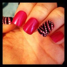 Impress nails with Kiss design nail art