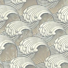 an interesting pattern using waves...looks to be very art deco