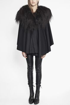 Cape with Icelandic Wool Collar   OVATE