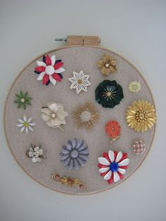 Cute way to display brooches
