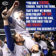 Anthony Rizzo message for David Ross. Ross, you deserve it! Enjoy your retirement! You will not be forgotten as a key member of the greatest team in all the land! Go Cubs Go! Chicago Cubs Fans, Chicago Cubs World Series, Chicago Cubs Baseball, Chicago Bears, Cubs Win, Go Cubs Go, Mlb Teams, Sports Teams, World Of Sports