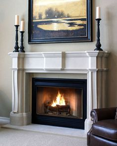 cast stone fireplace mantels - Living room                                                                                                                                                                                 More