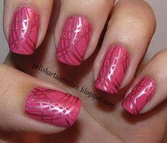 pretty #pink #stamped mani