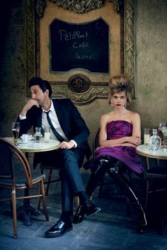 Natalia Vodianova & Adrien Brody by Peter Lindbergh for Vogue US July 2015