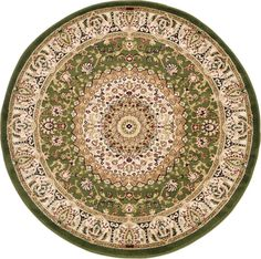 Mashad Light Green Area Rug