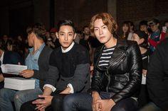 Lee Soo Hyuk and Hong Jong Hyun by Mac Kim at PLAC Jeans show. Hong Jong Hyun, Lee Soo, Korean Model, Jonghyun, Avengers, Jeans, Fictional Characters, Collection, Mac