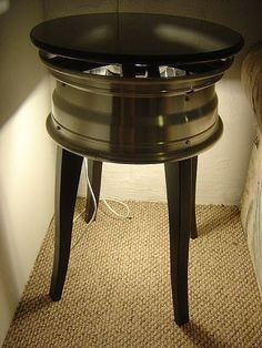 How to Make an End Table with a Car Wheel
