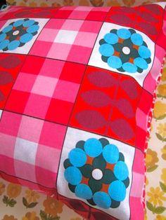 Pomme de Jour Vintage Fabric Cushion Cover  1970s by Pommedejour, $28.00