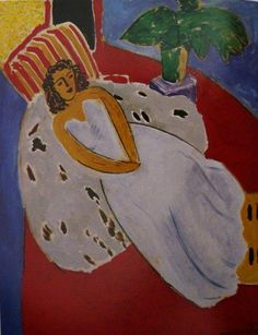 Interieur Jaune et Bleu 1946 Matisse had a strong attachment to the objects he surrounded himself with - ordinary objects that he carried wi...