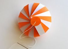 DIY striped paper ornament | How About Orange
