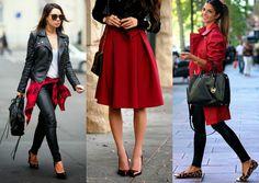 Combinação de cores da semana: Se joga no preto e vermelho! - Moda it