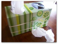 tissue box and garbage - great for next to the kids bed