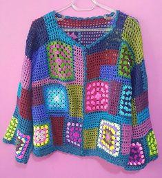 Crochet Jacket Pattern Granny Square Vintage New Ideas Poncho Crochet, Crochet Jacket Pattern, Crochet Granny, Crochet Patterns Free Women, Knitting Patterns Free, Crochet Ideas, Coat Patterns, Dress Patterns, Beautiful Crochet