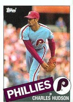 1985 Topps 379 Charles Hudson - Philadelphia Phillies (Baseball Cards) ** For more information, visit image link.