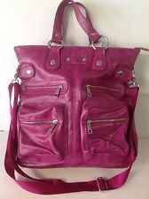 Messenger Crossbody Large Fuschia Bag Purse Designer Fashion Multi Pockets