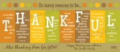 Printable Thanksgiving cards..could use as cards, placecards or placemats. I love using the Bible verses to spell Thankful!
