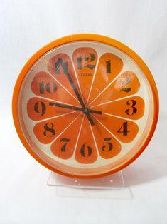 a real orange clock