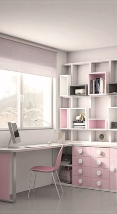 Wonderful Shared Kids Room Ideas For Boys and Girls Pg 6 Room Design Bedroom, Girl Bedroom Designs, Room Ideas Bedroom, Home Room Design, Kids Room Design, Small Room Bedroom, Home Office Design, Home Office Decor, Bedroom Decor
