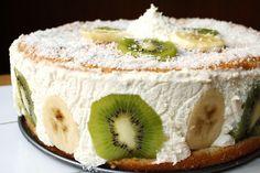 Fresh Kiwiana Cake – A Daring Baker's Challenge Pavlova Cake, Kiwiana, Classic Desserts, Just Desserts, Baked Goods, Cheesecake, Appetizers, Sweets, Fresh