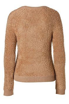 BURBERRY BRIT Merino Wool Blend Pullover in Camel