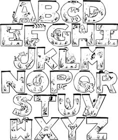 full alphabet #colorpages #coloring #coloringpages