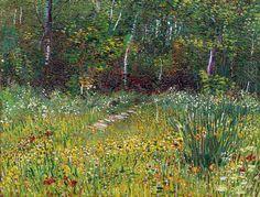 "dappledwithshadow: ""Vincent van Gogh Park at Asnieres in Spring 1887 """