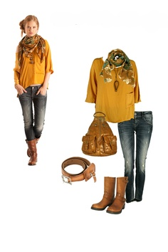 Jeans & Yellows Dress Me Up, Get The Look, Cosmic, Yellow, Jeans, Dresses, Fashion, Gowns, Moda