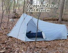 Cover: The Zerogram Zero 1 is a single-walled tent with a front vestibule and unique side door.
