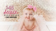 It's BACK, but just for 2 DAYS! Our popular Sequin Backdrops now start at just $45 + free shipping - hurry, sale ends 4/7/15!